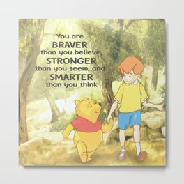 Christopher and Pooh Bear Metal Print