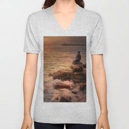 Folkestone At Sunrise Unisex V-Neck