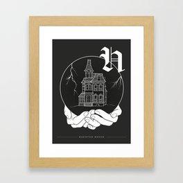 Shadow Alphabet: Haunted House Framed Art Print