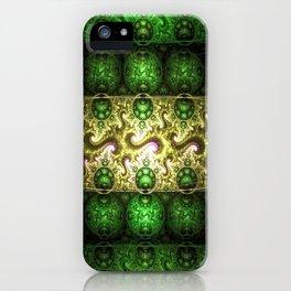fractal art digital blue iPhone Case