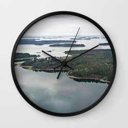 Late November archipelago Wall Clock