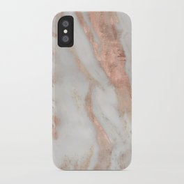 Civezza rose gold marble quartz iPhone Case