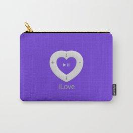 iLove Purple Carry-All Pouch