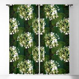 Hills-of-snow hydrangea pattern Blackout Curtain