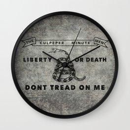 Culpeper Minutemen flag, Vintage Grunge Wall Clock