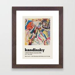 Wassily Kandinsky - Exhibition poster Framed Art Print