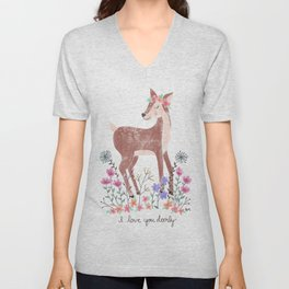 Love You Deerly Unisex V-Neck