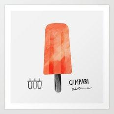 Popsicle 1 | 100 Days of Cookbook Spots Art Print