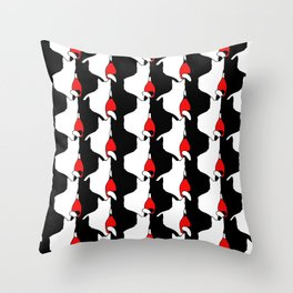 Cat Silhouettes Throw Pillow