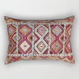 Gaziantep  Antique Turkish Rug Print Rectangular Pillow