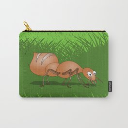 Ant smiling in tall green grass Carry-All Pouch