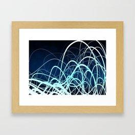 Blue Movement2 Framed Art Print