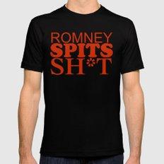 Romney spits sh*t Black Mens Fitted Tee MEDIUM