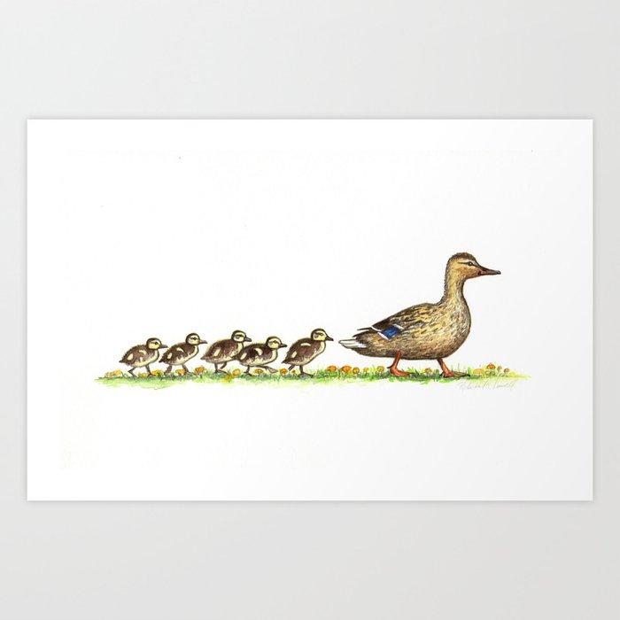 ducks in a row art print by rebekahlowell society6