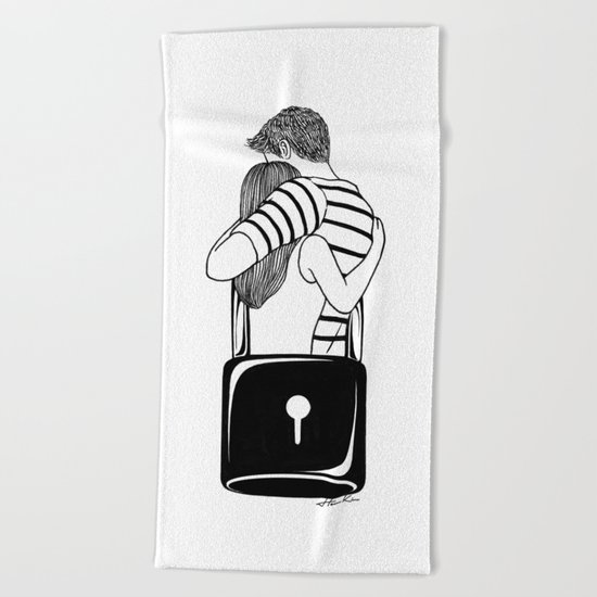 Lock With You Beach Towel