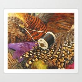 The Fly Tyers Spool Art Print