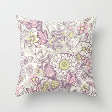 Beauty (eye of the beholder) - pale version Throw Pillow