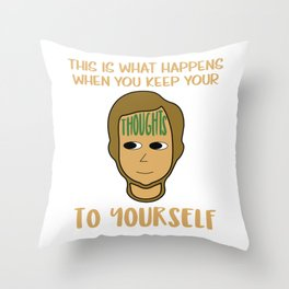 Biggest and Shiniest Forehead Tshirt design Dont keep your thoughts Throw Pillow