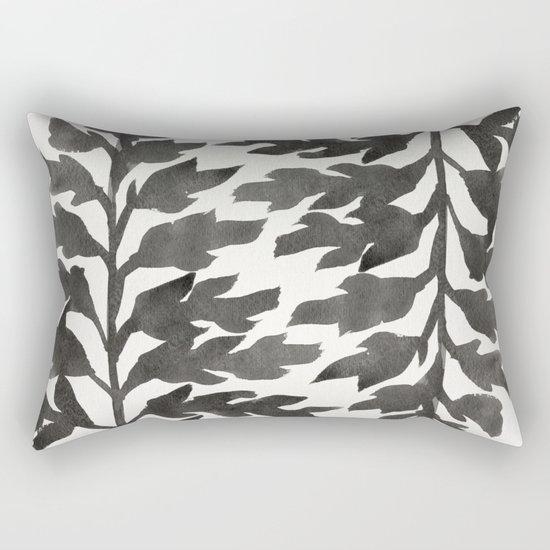 Black Fern Rectangular Pillow