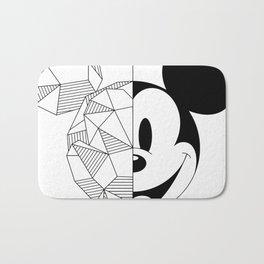 Geometric Mouse Bath Mat