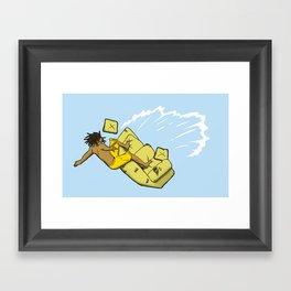 Couch Surfer Framed Art Print