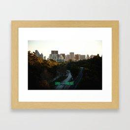 Downtown San Diego Skyline Framed Art Print