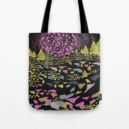 Trippy hills colorful Tote Bag