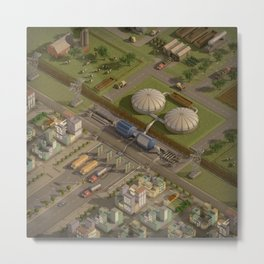 Biogas City Metal Print