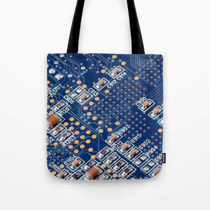 Blue Panel Tote Bag