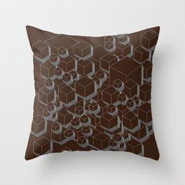 3D Futuristic Cubes VI Throw Pillow