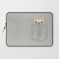 Pocket French Bulldog - Cream Laptop Sleeve