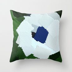 White African Daisy Large Brush Strokes Design  Throw Pillow
