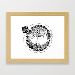 Jajan Pasar Meow Framed Art Print