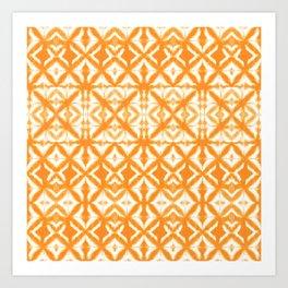 Breeze Block Shibori Tangerine Art Print