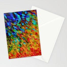 COLLISION COURSE - Bold Rainbow Splash Bricks Urban Jungle Ocean Waves Nature City Acrylic Painting Stationery Cards