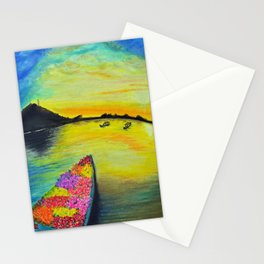 Morning on the Lake Kashmir Stationery Cards