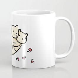 Flying bears with roses illustration Coffee Mug