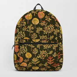Watercolor autumn forest in doodle style Backpack