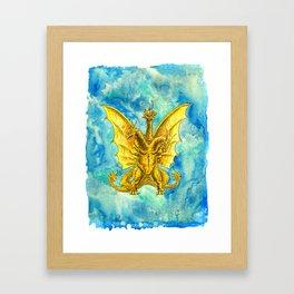 King Ghidorah : Triple Threat Framed Art Print