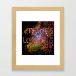 Galactic Positivity Wall Text Framed Art Print