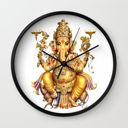 Ganesha - Hindu Wall Clock