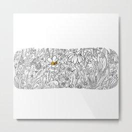 little bee in the garden Metal Print