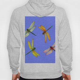COLORFUL DRAGONFLIES IN BLUE SKY  DESIGN Hoody