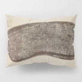 New York, Manhattan, Vintage Map Pillow Sham