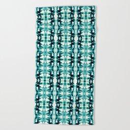 Tie-Dye Teals Beach Towel