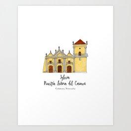 Iglesia del Carmen Art Print