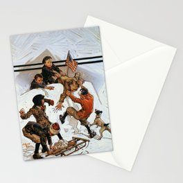 Snowball Fight - Digital Remastered Edition Stationery Cards
