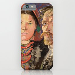 Stanislaw Wyspianski - Portrait of the artist and his wife - Digital Remastered Edition iPhone Case