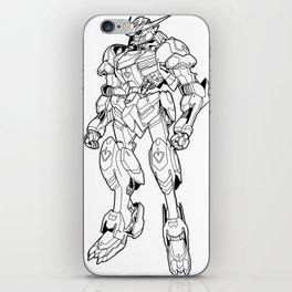 Gundam Barbatos Outline Black iPhone Skin