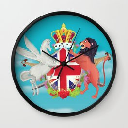 Royal Crest Wall Clock